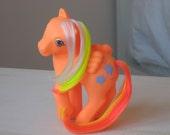 Vintage G1 My Little Pony Orange Pegasus Tropical Sea Breeze Pony