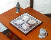 Celtic Hnefatafl Game Board, Medieval Dollhouse Miniature 1/12 Scale, Hand Made