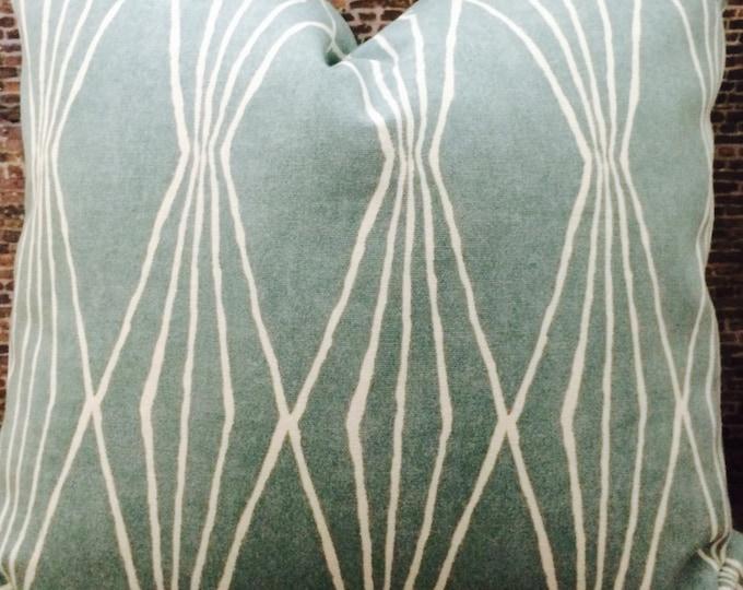 Designer Pillow Cover - Lumbar, 16 x 16, 18 x 18, 20 x 20, 22 x 22, Euro- Geometric RAHC Rain