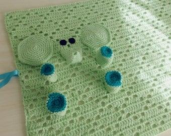 Baby Security Blanket PDF Crochet Pattern - Elephant amigurumi toy and security blankie - newborn, nursery gift -  Instant DOWNLOAD