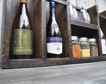 Distressed Wine Rack