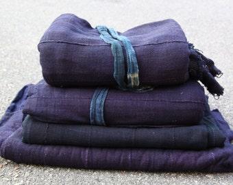 Indigo Sea : Solid Blue Indigo Handmade Cloth, Burkina Faso / West African Tribal Wall Hanging, Fabric, Blanket, Design, Sewing Supply