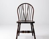 antique bow back windsor chair with tail brace