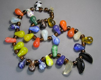 Mali Wedding Beads, Antique Trade Beads, Vintage African Jewelry, Glass Necklace