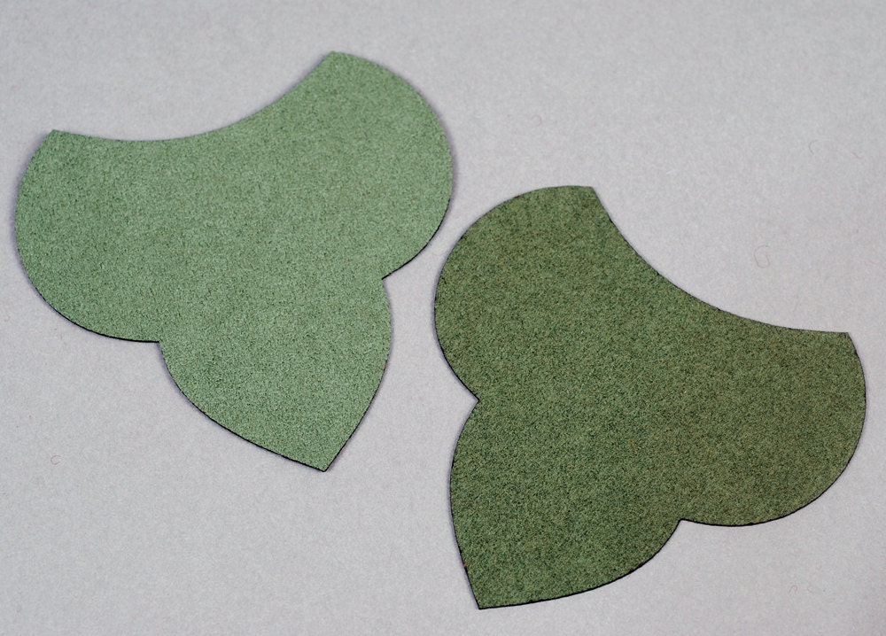 Laser cut ultrasuede for beading and bead embroidery up