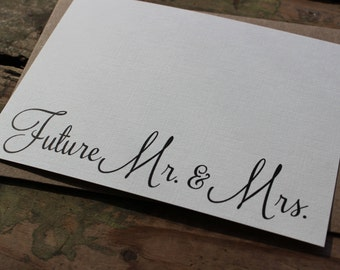 Future Mr. and Mrs. Engagement Thank You Cards with Envelopes / Wedding / Shower / Engagement / Set of 10
