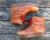 Vintage 1970's BASS Sugarloafer lumberjack boots (men's 8)