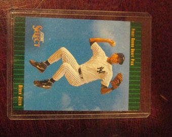 Derek Jeter New York Yankees  Rookie Card Future Hall of Fame Player 1992 Score Select 1st Round Draft Pick Card