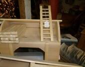 Unfinished  Regular Size Barn, Fence, & Ladder  Set