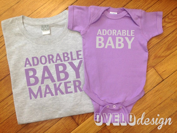 Adorable Baby Maker Daddy and Me Men's T-shirt and Bodysuit Set
