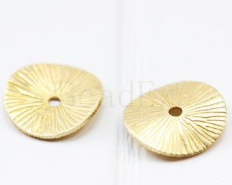 40 Pieces / Raw Brass / Pendant / Charm / Waved Spacer 11mm (C1692//P319)