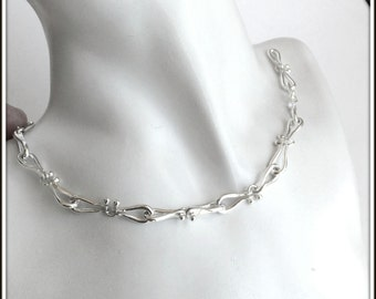Pegase ---Chain Necklace  handcrafted sterling silver horseshoe shaped links man woman