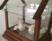 Glass Miniature Greenhouse Music Box - You Light Up My Life
