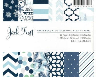 6x6 Christmas Patterned Paper Pad from American Crafts - Jack Frost
