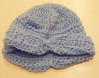 Crochet turban-style hat