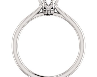 1/2ct GIA Certified Diamond Solitaire  Engagement Ring In 14k White Gold ST233115