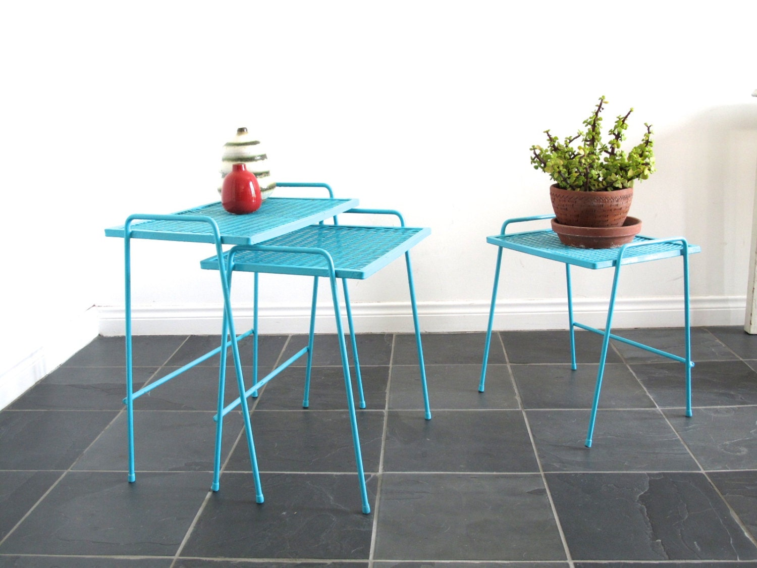 Vintage Metal Patio Furniture Small Metal By SnapshotVintage