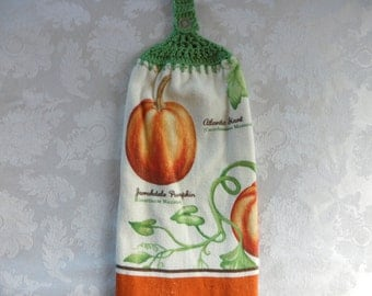 Hanging Double Kitchen Towel Pumpkin Towel Fall Towel