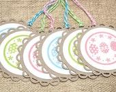 Easter Tags, Easter Basket Tags, Easter Eggs, Handmade Tags, Handmade Easter, Set of 6
