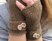 Fingerless Gloves, Bow gloves, Knit Fingerless Gloves with Bow, Knit Fingerless gloves, Wrist Warmers, Hand Warmers, Texting Gloves