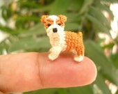 Miniature Bulldog - Micro amigurumi Tiny Crochet Dog - Made To Order