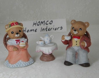 Homco Bear Family Etsy