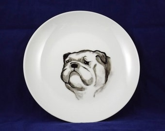 Bulldog decorative plate