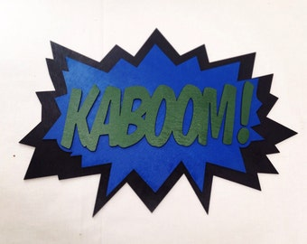 LARGE Comic Book KABOOM! Quote Wall Art/Plaque