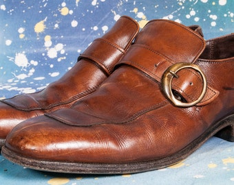 WRIGHT Monk Strap Shoe Size 8 .5