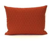 Lumbar Pillow Cover Rust Orange Geometric Decorative Oblong Accent Throw Pillow Cover 12x24 12x21 12x18 12x16 10x20