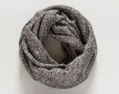 Chunky Cowl Scarf Gray Infinity Scarf Chunky Wool Scarf Gray Mens Scarf Winter Accessories