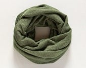 Dark Green Infinity Scarf Cowl Scarf Jersey Knit Infinity Scarf Wraps Shawls Fashion Accessories