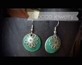 Brass Patina Coin Earrings