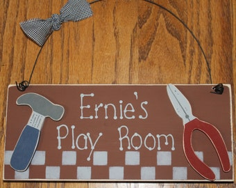 Personalized Wooden Tool Sign