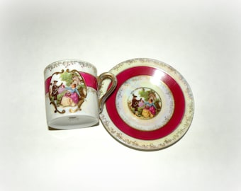 2 Piece LEFTON China- CUP SAUCER- Antique Pretty Teacup- Fine Bone China