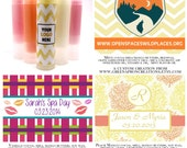 100 Count Custom Lip Balms/Labels - Great Party Favor & Promotional Items - Wedding Favor - Shower Gift