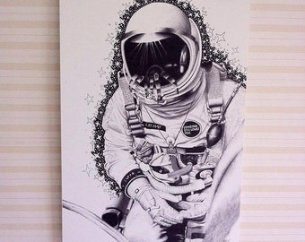 A3 Space Man illustration