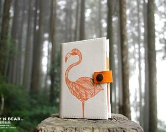 Flamingo, Personal organizer, Personal planner, planner, organizer, agenda diary, calendar, monthly, weekly, student, unique, handmade
