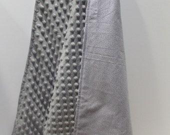 Gray Minky Stroller or Carseat Blanket