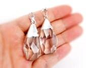 20% OFF Faceted White Quartz Necklace - Quartz Necklace - Bridesmaids Gifts Idea - Bohemian Style Necklace - Healing Stone Necklace