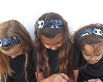 soccer headband. easy fit no slip reversible fabric headband for girls. design your own 14 reversible solids. order in up to set of 16.