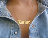 Name Necklace, Gold Name Necklace, Personalized Necklace Delicate Name Necklace, everyday jewelry