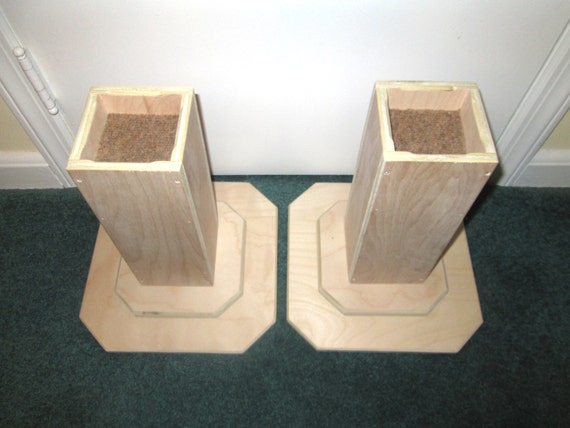 Dorm Room Bed Risers, 12 Inch All Wood Construction, Unfinished Square  Design - Raise