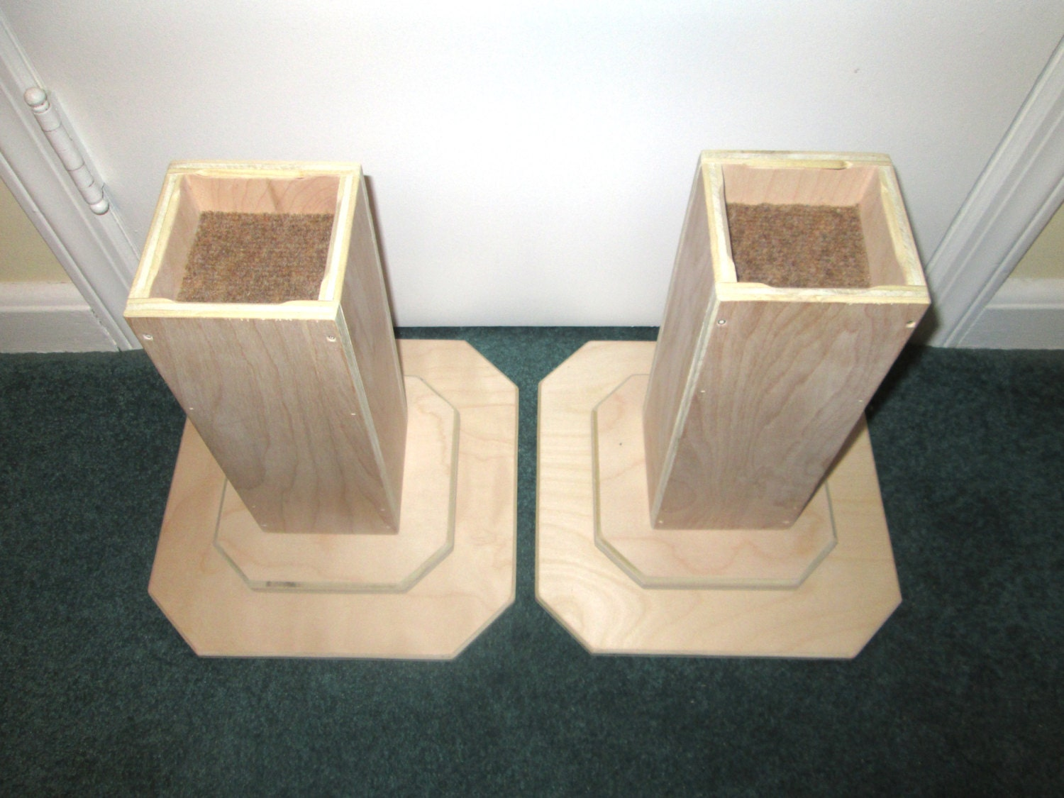 Dorm room bed risers inch all wood construction by