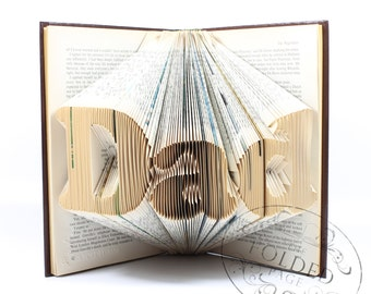 DAD Folded Upcycled Book Art Sculpture