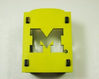 University of Michigan Nightlight - Block M - Maize Front / Blue Sides