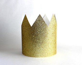 Special order Wendy, Gold Paper Crown - Set of 2 Birthday Party Crowns, Where the Wild Things Are
