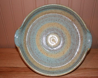 Pottery baking dish, serving bowl, pie plate