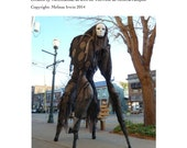 4 Legged Stilt Spirit Halloween Costume Tutorial - As Seen on YouTube - Immediate download!