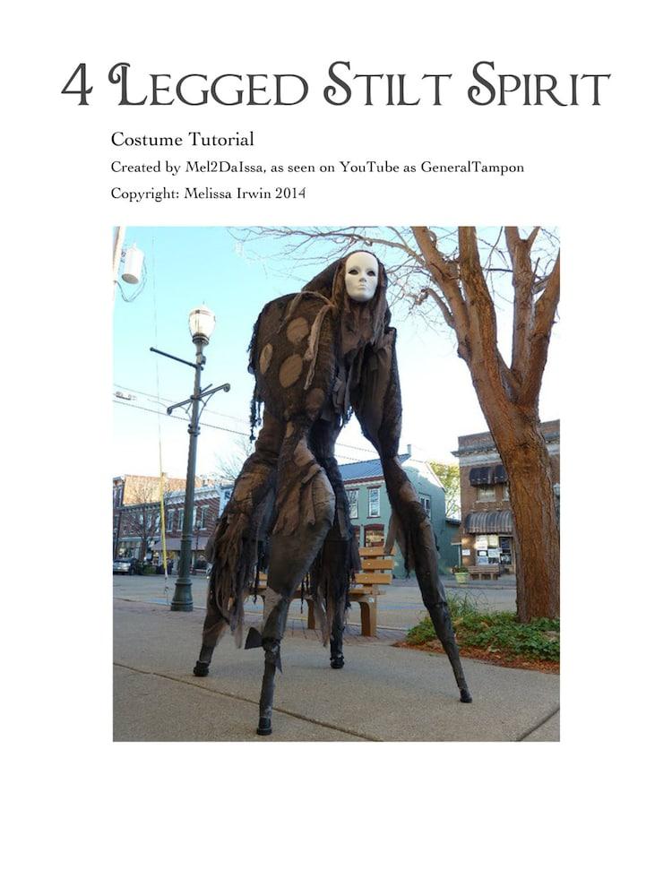 4 Legged Stilt Spirit Halloween Costume Tutorial As by